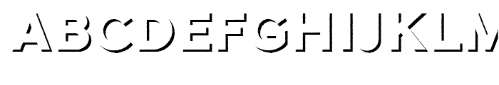 Galeb Texture Shadow Font UPPERCASE