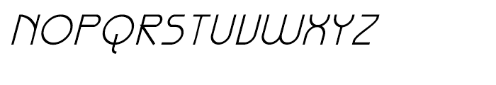 Galexica Italic Font UPPERCASE