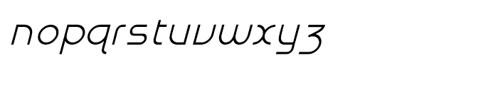 Galexica Italic Font LOWERCASE