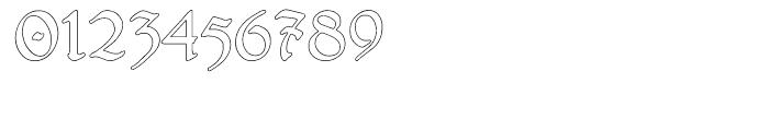 Gans Antigua Manuscrito Outline Font OTHER CHARS