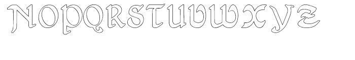 Gans Antigua Manuscrito Outline Font UPPERCASE