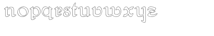 Gans Antigua Manuscrito Outline Font LOWERCASE