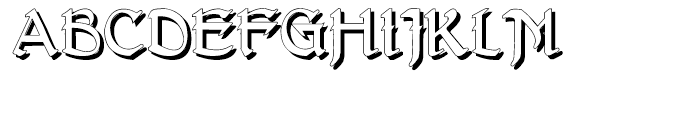 Gans Antigua Manuscrito Shadow Font UPPERCASE