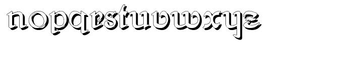 Gans Antigua Manuscrito Shadow Font LOWERCASE