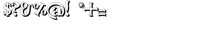 Gans Antigua Shadow Font OTHER CHARS