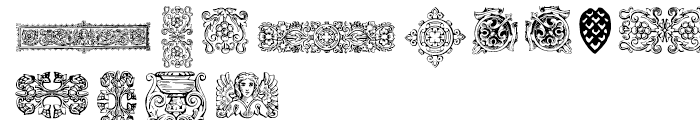 Gans Classical Fleurons Font UPPERCASE