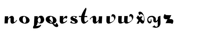 Gans Fulgor Humanista Regular Font LOWERCASE
