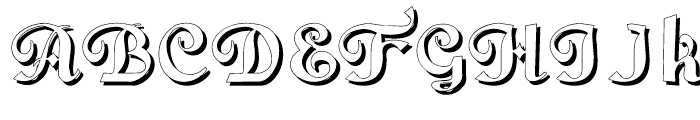 Gans Fulgor Humanista Shadow Font UPPERCASE