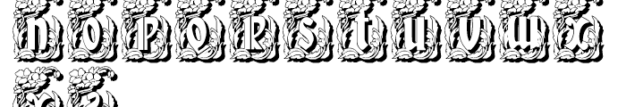 Gans Gotico Globo Decorative Shadow Font UPPERCASE
