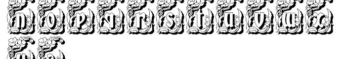 Gans Gotico Globo Decorative Shadow Font LOWERCASE