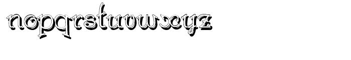 Gans Royality Shadow Font LOWERCASE