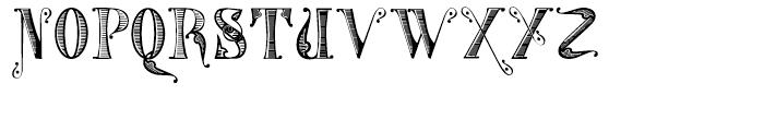 Gans Tipo Adorno Handtooled Font UPPERCASE
