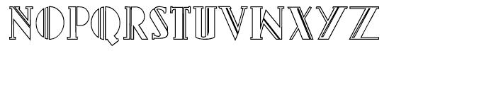 Gans Titania Outline Font UPPERCASE