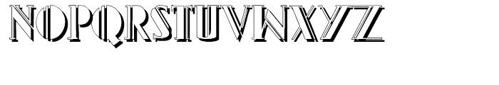 Gans Titania Shadow Font UPPERCASE