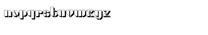 Gans Titania Shadow Font LOWERCASE