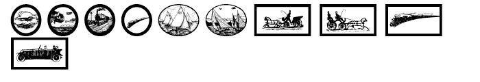 Gans Transportation Font OTHER CHARS