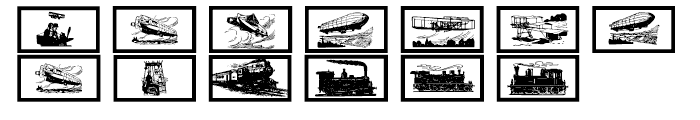 Gans Transportation Font LOWERCASE