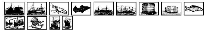 Gans Vessels Fishes Font UPPERCASE