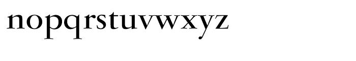 Garamond Bold Ludlow Font LOWERCASE