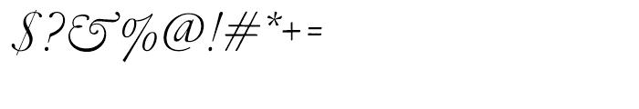 Garamond FB Display Light Italic Font OTHER CHARS