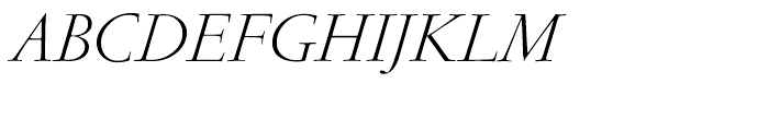 Garamond FB Display Light Italic Font UPPERCASE