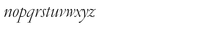 Garamond FB Display Light Italic Font LOWERCASE