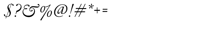 Garamond FB Display Regular Italic Font OTHER CHARS