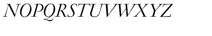 Garamond FB Display Regular Italic Font UPPERCASE