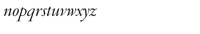 Garamond FB Display Regular Italic Font LOWERCASE