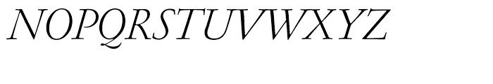 Garamond FB Text Light Italic Font UPPERCASE