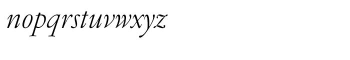 Garamond FB Text Light Italic Font LOWERCASE