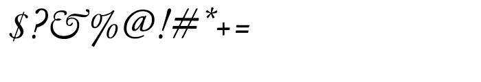Garamond FB Text Regular Italic Font OTHER CHARS
