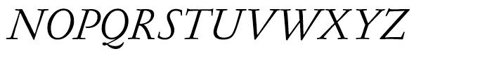 Garamond FB Text Regular Italic Font UPPERCASE