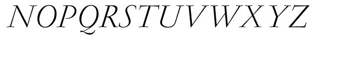Garamond Light Italic Ludlow Font UPPERCASE