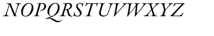 Garamond Premier Italic Font UPPERCASE
