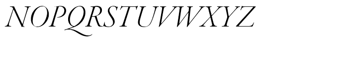 Garamond Premier Light Italic Display Font UPPERCASE