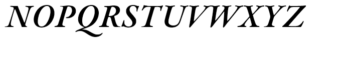 Garamond Premier Semibold Italic Font UPPERCASE