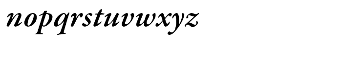 Garamond Premier Semibold Italic Font LOWERCASE
