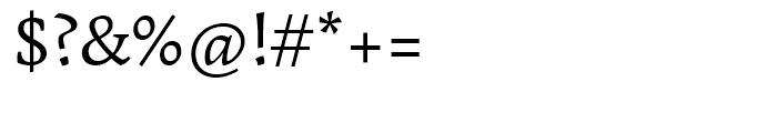Garibaldi Regular Font OTHER CHARS