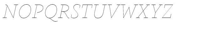Gauthier Display FY Thin Italic Font UPPERCASE