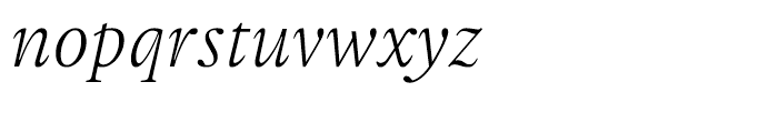 Gauthier FY Italic Font LOWERCASE