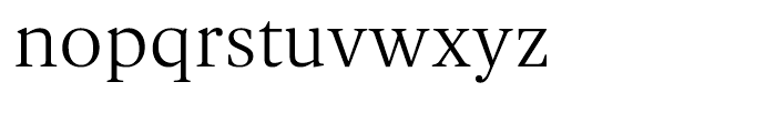 Gauthier FY Regular Font LOWERCASE