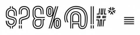 Gala Biline Regular Font OTHER CHARS