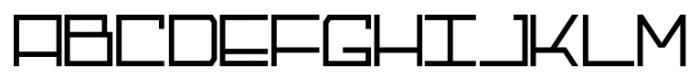 Galactik Regular Font UPPERCASE