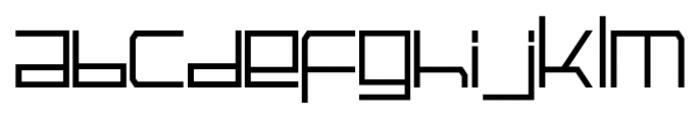 Galactik Regular Font LOWERCASE
