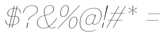 Galderglynn Esquire UltraLight Italic Font OTHER CHARS