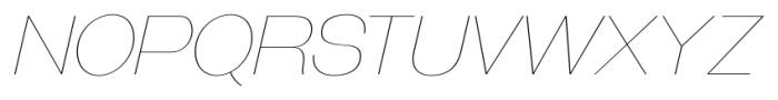 Galderglynn Esquire UltraLight Italic Font UPPERCASE