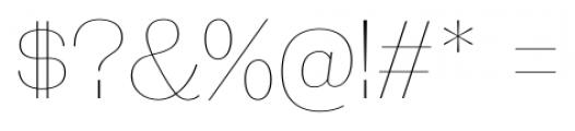 Galderglynn Esquire UltraLight Font OTHER CHARS