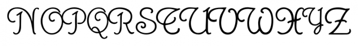 GansRoyality Regular Font UPPERCASE