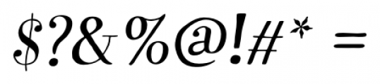 Garden Pro Italic Font OTHER CHARS